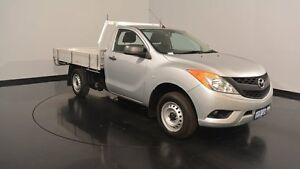 2012 Mazda BT-50 UP0YD1 XT 4x2 Silver 6 Speed Manual Cab Chassis Welshpool Canning Area Preview