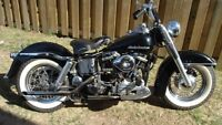 1953 Panhead on 1965 to 1969 Frame. Built to Ride