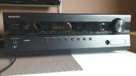 Onkyo HT-R380 5.1 HDMI AV Receiver  -  with Remote Control and instruction manual