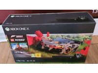 **AS NEW** XBOX ONE X , 1 WEEK OLD INCLUDES FORZA HORIZON 4 & LEGO SPEED CHAMPIONS GAME ADD-ON