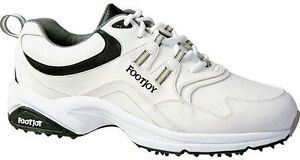 FOOTJOY-GREENJOYS-ATHLETIC-MENS-GOLF-SHOES-WHITE-45335-NEW
