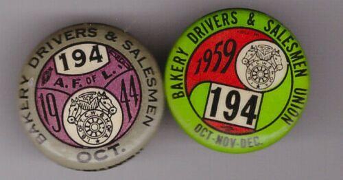 """teamsters 194 4q1959 or 10/44 choose   1"""" pin  194is Newark NJ &vic"""