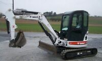 Mini bobcat for rent Mini - skid steer loader for rent