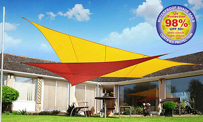Kookaburra Sail Shade Sun Canopy Patio Awning Garden 98% UV & Waterproof Outdoor