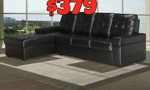 FALL SALE ON NOW CONDO TYPE SECTIONAL JUST $379 LOWEST PRICES GUARANTEED