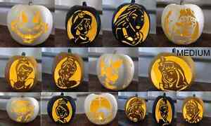 Variety of Carved Halloween Craft Pumpkins