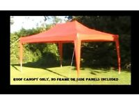 CANOPY 4.5 x3 RED GREAT TO COVER CARS CARAVANS GARDEN FURNITURE ETC