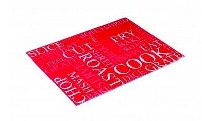 Actions Red Glass Worktop Saver Protector Kitchen Chopping Cutting Board