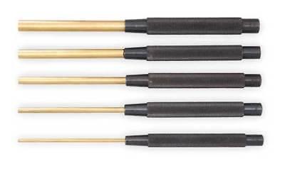 STARRETT B248C Brass Drive Pin Punch,1/4 In Tip,8 In -