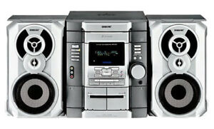 Sony AM/FM Stereo 3 Disc Changer, Dual Cassette Hi-Fi System