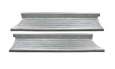 Ford F-1 Pickup Truck Steel Running Board Set RIBBED 1948-1952