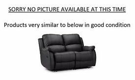 FREE: Collection only SATURDAY 25 FEB 2017 - 2 black recliner sofas (2 seater) in good condition