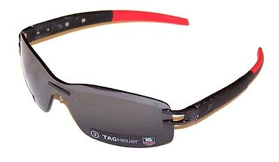 Tag Heuer Sunglasses TH 0453 123 Red Black L Type Anthracite Carbon Authentic