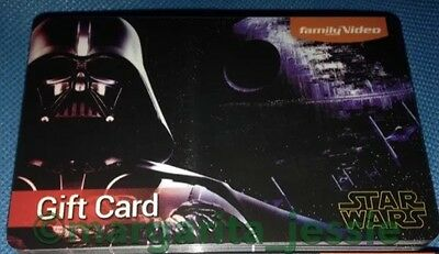 Family Video Gift Card  Star Wars  2015 Darth Vader No Value Collectible New