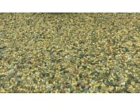 Driveway gravel 20mm 40mm decorative pebbles shingle recycled washed aggregates delivered