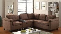 $697 2PCS SECTIONAL SET WITH CONSOLE