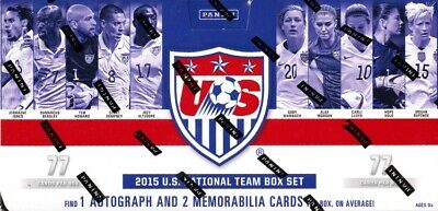 2015 Panini USA National Team Soccer Box Set - 1 Auto + 2 Mem Per Box!