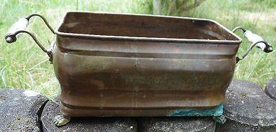 schöner Kupfer Übertopf auch Pflanzkübel Garten Deko