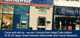 Travel agent in Angel Islington, zone 1