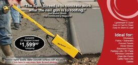 SPIN SCREED for Quickly levelling concrete