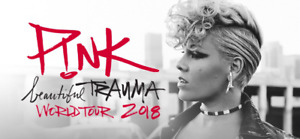 Floor tickets to P!NK tonight: $600 for the pair! Can't go lower