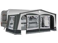 Dorema Supreme XL 270 Charcoal grey fibre frame caravan awning.