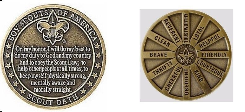 BOY SCOUT COLLECTORS OATH LAW CHALLENGE COIN HEAVYDIECAST OFFICIAL LICENSED BSA