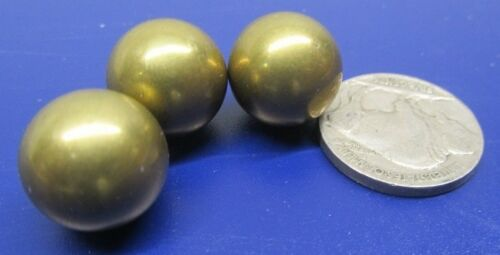 """260 Brass Solid Balls 9/16"""" Dia. +/-.001"""", 10 Pcs"""