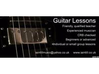 Guitar Lessons / Tuition. Qualified teacher, experienced musician.