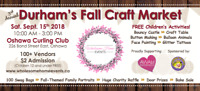 VENDORS WANTED - 3rd Annual Durham's Fall Craft Market