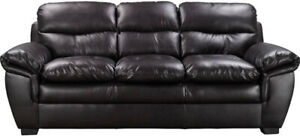 New Black Leather Sofa / Couch  (Can Deliver)