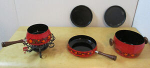 1960s MCM Orange BEKA Cast Iron Cookware Set – Made in W Germany