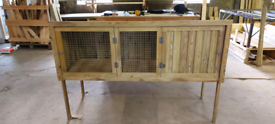 Rabbit hutch 6ft x2ft x2ft heavy duty timber on legs new