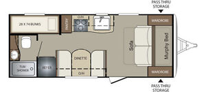 2016 Keystone Bullet 2070BH with Murphy Bed and Bunks