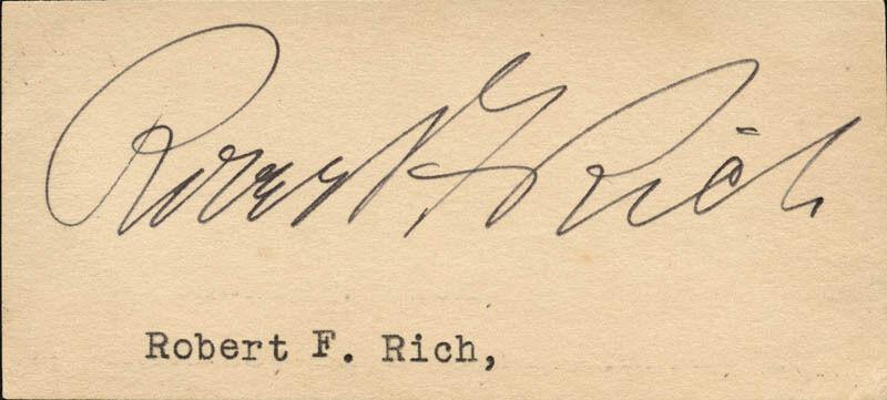 ROBERT F. RICH - CLIPPED SIGNATURE