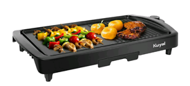 Electric Griddle 2-in-1 Indoor Grill Smokeless
