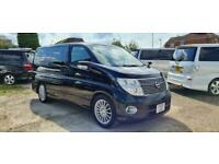 NISSAN ELGRAND 2 BERTH CAMPERVAN WITH ROCK AND ROLL BED
