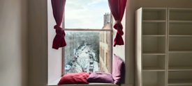 Long term bright double bedroom available in a central 2 bedroom flat