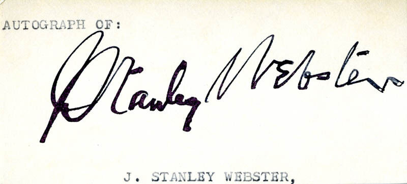 JOHN STANLEY WEBSTER - CLIPPED SIGNATURE
