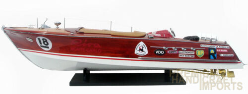 Super Riva Zoom Handmade Wooden Model Speedboat
