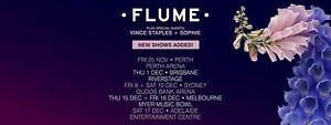 x1 HARDCOPY FLUME 2016 World Tour Sydney 10th December Saturday Sydney City Inner Sydney Preview