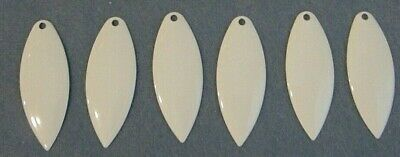 Lot of 6 Worth Mfg #5 Colorado Nickel Smooth Spinnerbait Blade