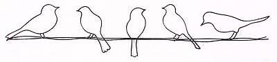Graham  Brown 41-221 Bird on a Wire Metal Wall Art