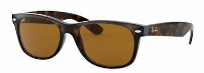 Ray-Ban Damen Herren Sonnenbrille RB2132 710 55mm NEW WAYFARER havana S E6