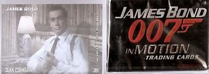 James Bond in Motion Card Set Plus Lenticular Insert Set
