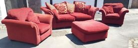 Red DFS 3 piece suite
