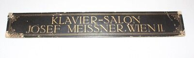 Original Antique Shield Klavierbauer Piano Klavier-Salon Josef Meissner Vienna