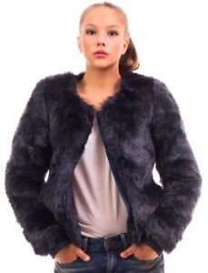ONLY - Faux Fur Jacket- SMALL