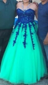 Grad dress for sale (blue)