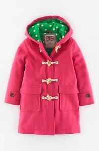 NEW Mini Boden NEW Sweetheart Pink Duffel Coat Size 9 to 10